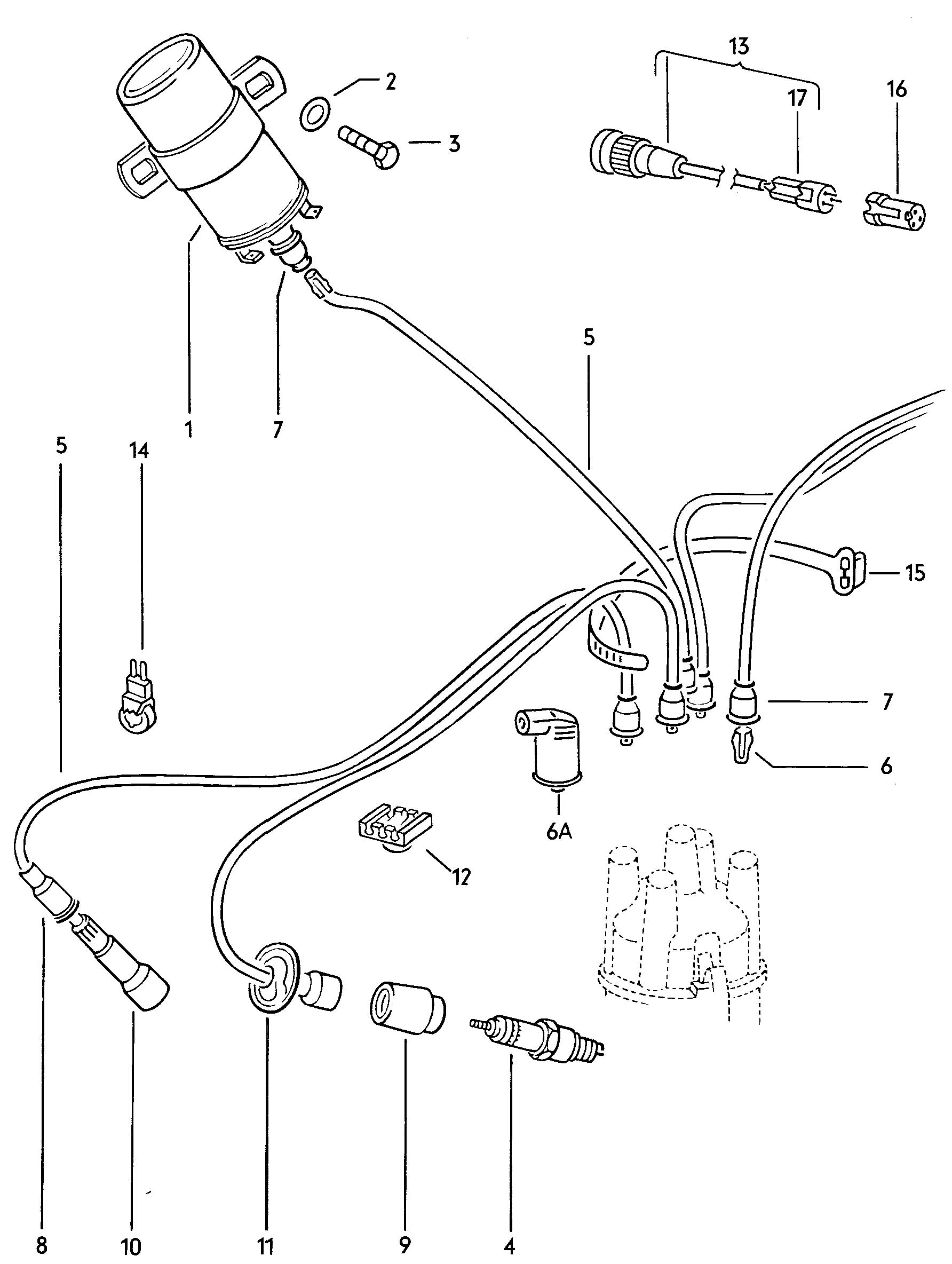 1956 vw bug wiring diagram