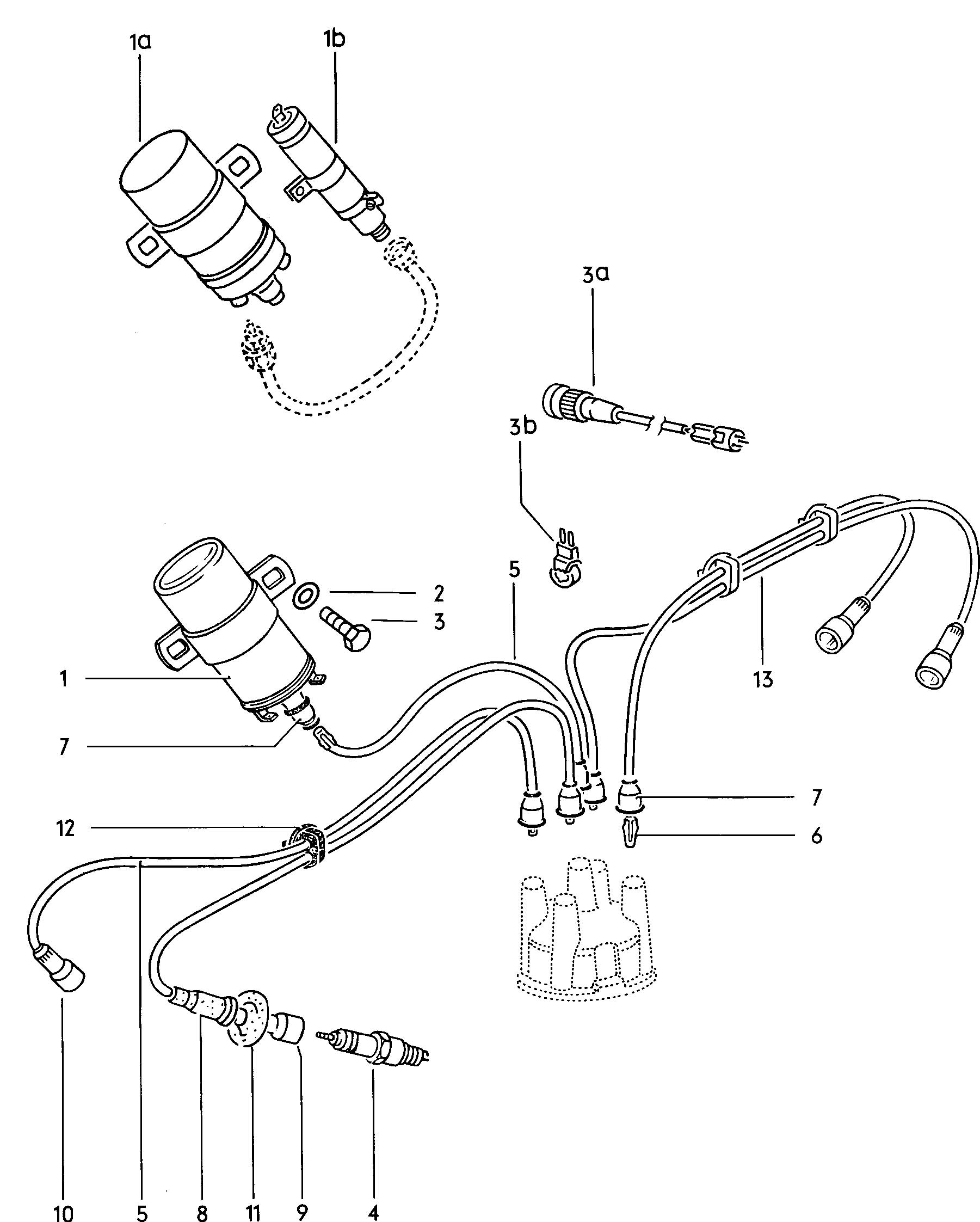 vw 1600 ignition coil wiring diagram