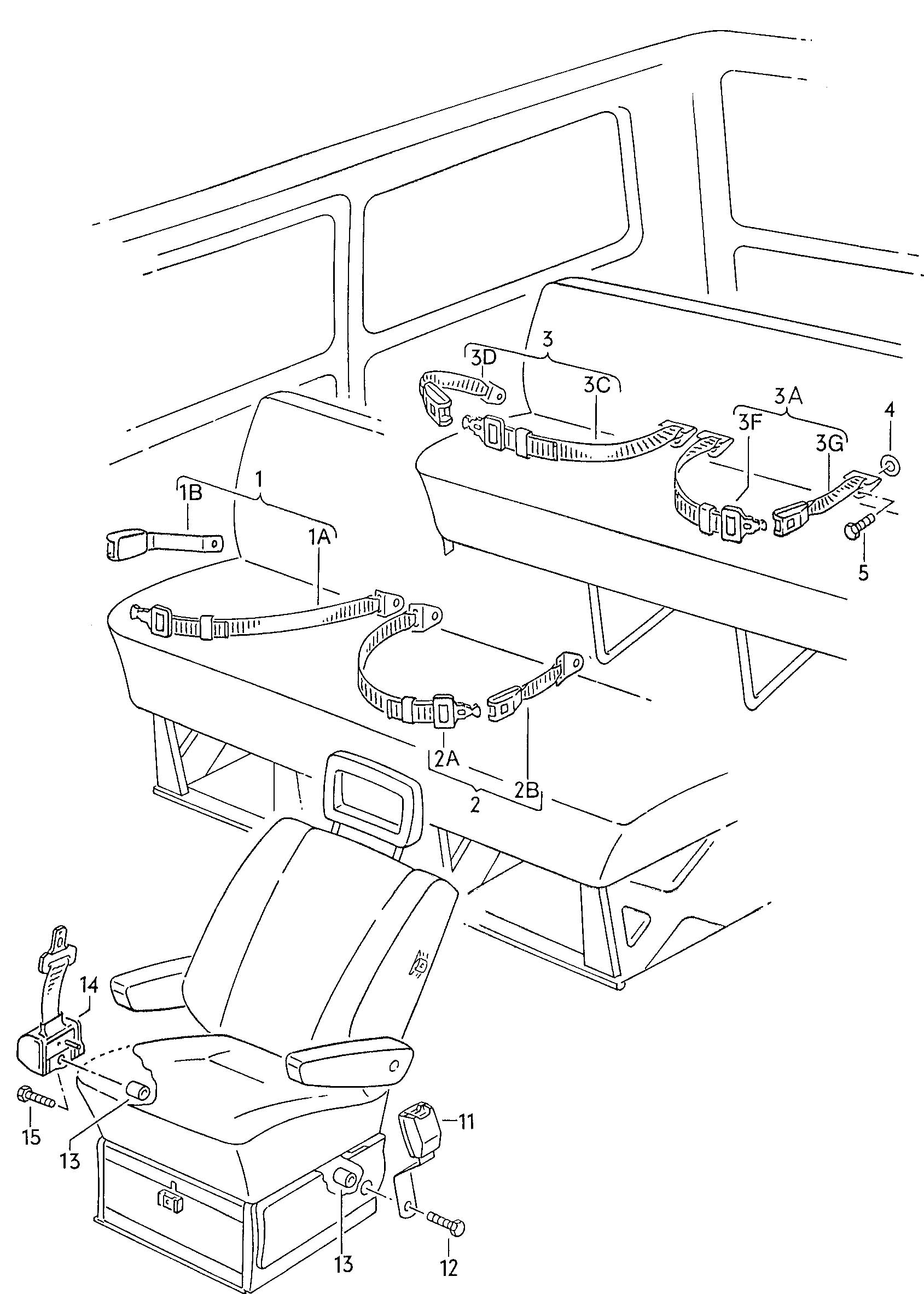 volkswagen jetta seat belts