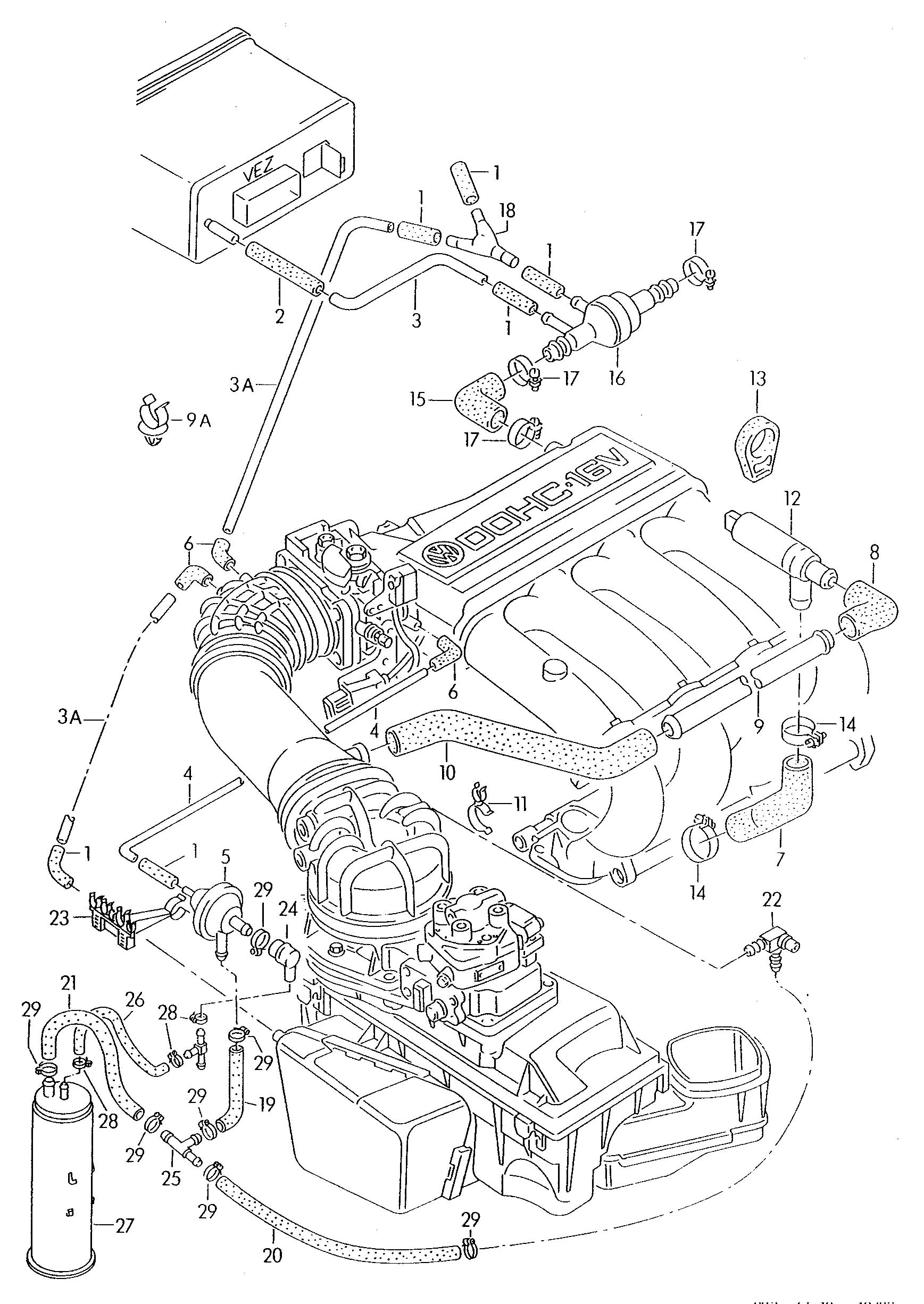2003 vw beetle exhaust system diagram