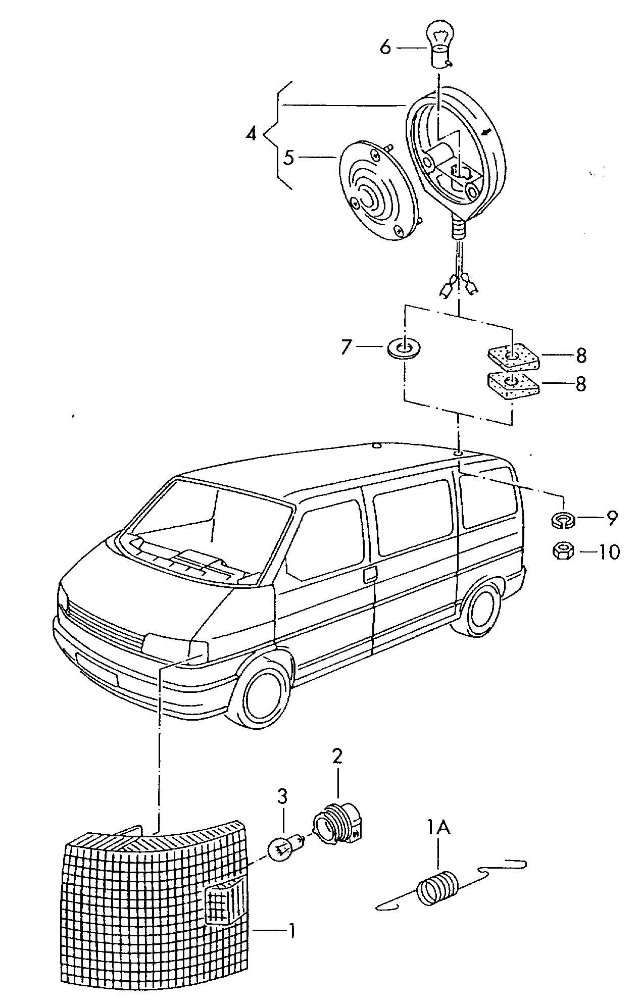 1993 Volkswagen EuroVan Turn signal front