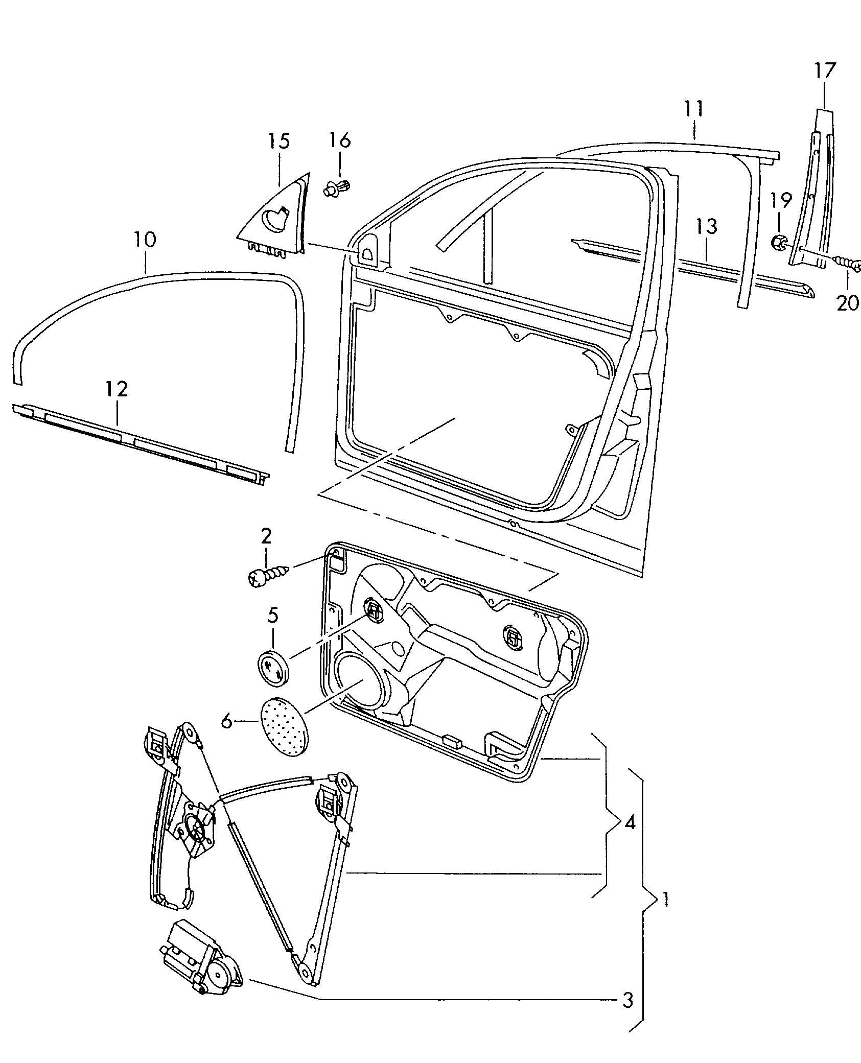 Glass channel window regulator window slot seal trim for for 1999 vw passat window regulator clips
