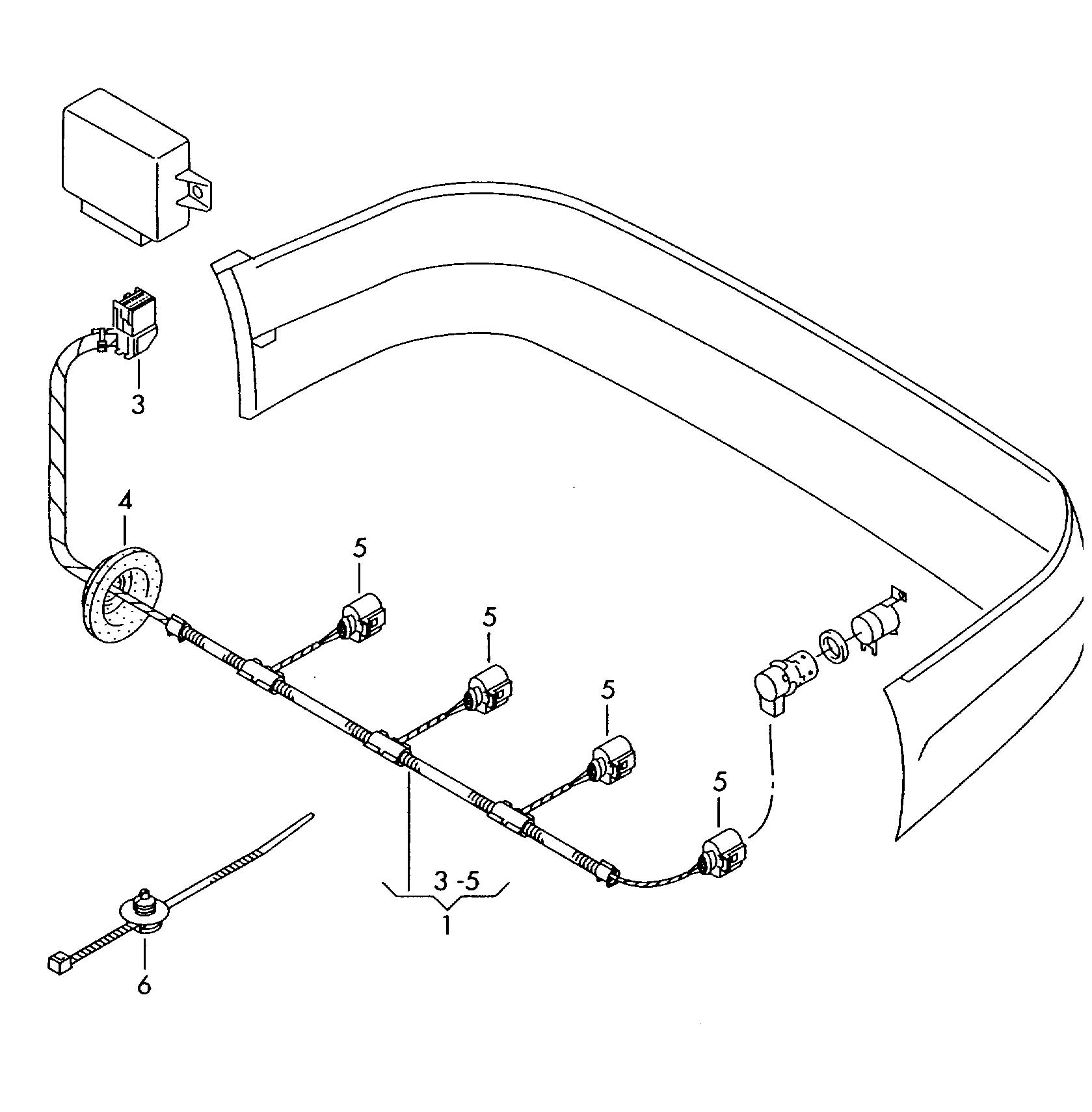 volkswagen jetta variant harness for parking aid single