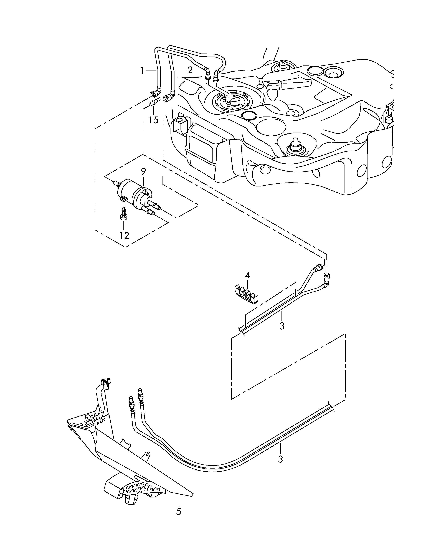 volkswagen eos fuel line fuel filter